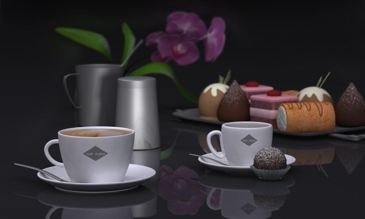 3d café pâtisserie