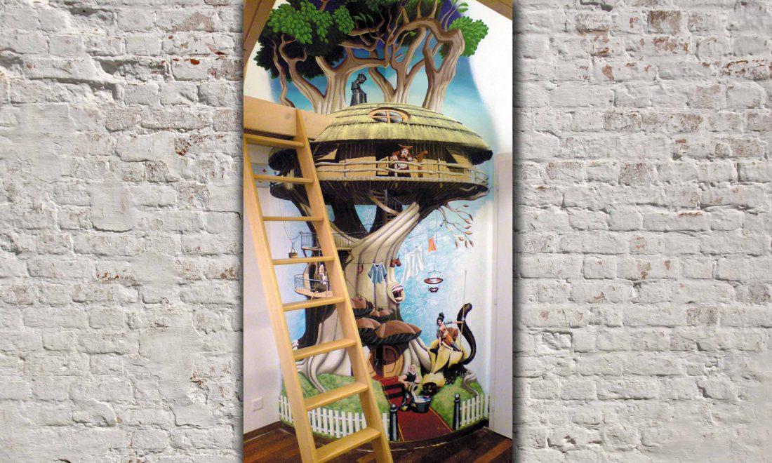 décoration chambre enfant pour un privé 2mx4,5m