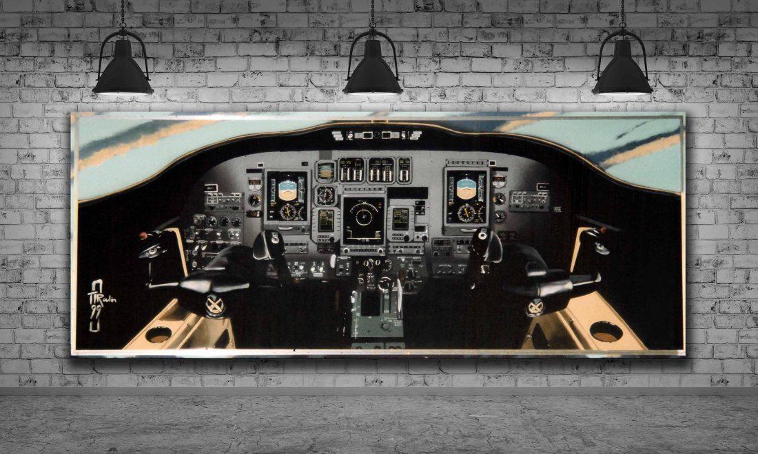 peinture murale entreprise d'entretien avionique 4mx1,5m